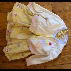 Ice Cream Dress and Cardigan 12 - 18M